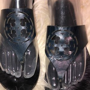 Tory Burch Shoes - Tory Burch sandals navy blue